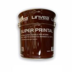 SUPER PRINTAL 4L LAVABILE SATINATO BIANCO LINVEA