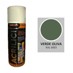 SPRAY VERDE OLIVE RAL 6003 ACRILICO BRIXO 400ML